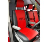 Mercedes Sprinter van seat covers red leatherette-made to measure-2000-2005 models